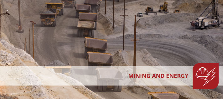 Mining, Energy and Infrastructure